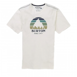Tričko s krátkym rukávom BURTON-MB UNDERHILL SS STOUT WHITE