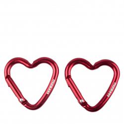 Prívesok na kľúče MUNKEES Mini Heart Carabiner 2ks set