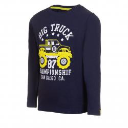 Chlapčenské tričko s dlhým rukávom AUTHORITY-TAREKON B blue dk