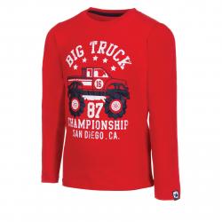 Chlapčenské tričko s dlhým rukávom AUTHORITY-TAREKON B red