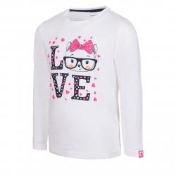 Dievčenské tričko s dlhým rukávom AUTHORITY-TAREKONA G white
