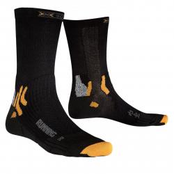 Bežecké ponožky X-SOCKS-Running Mid Calf B000 black