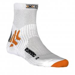 Bežecké ponožky X-SOCKS-Running Mid Calf W000 white
