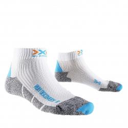Dámske bežecké ponožky X-SOCKS-Discovery Lady New W284 white/turquise/mouline