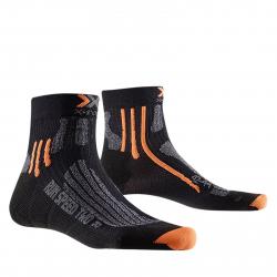 Pánske bežecké ponožky X-SOCKS-Run Speed Two Men B055 black/grey mouline