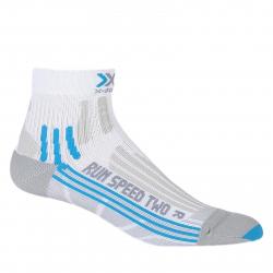 Dámske bežecké ponožky X-SOCKS-Run Speed Two Lady W135 white/turquise