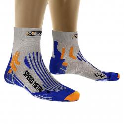 Bežecké ponožky X-SOCKS-Speed Metal silver/cobalt blue