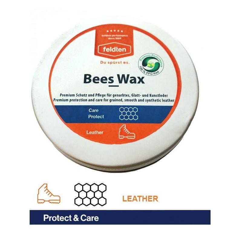 Ošetrovací prípravok na obuv FELDTEN-BEES WAX 120ml - Vosková impregnáciu a starostlivosť o všetky druhy kože a textílie.
