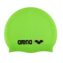Juniorská plavecká čiapka ARENA-Clasic Silicone Jr. acid green-black