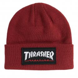 Pánska zimná čiapka THRASHER-LOGO PATCH BEANIE
