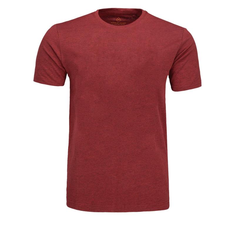 Pánske tričko s krátkym rukávom VOLCANO-T-BASIC Red -