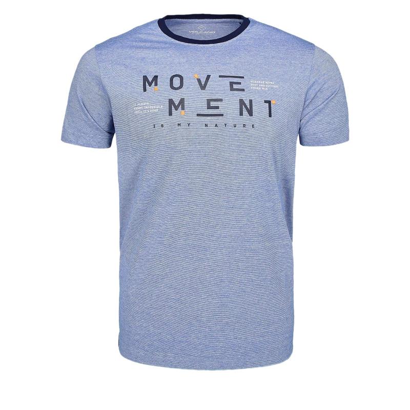 702cd95abc75 Pánske tričko s krátkym rukávom VOLCANO-T-MOVE Blue