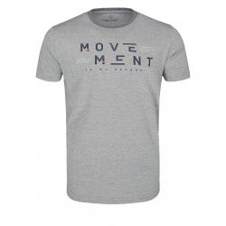 Pánske tričko s krátkym rukávom VOLCANO-T-MOVE Grey