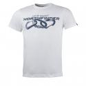 Pánske turistické tričko s krátkym rukávom NORTHFINDER-BELO-white -