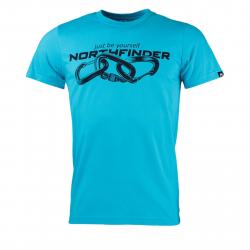 Pánske turistické tričko s krátkym rukáv NORTHFINDER-BELO-blue