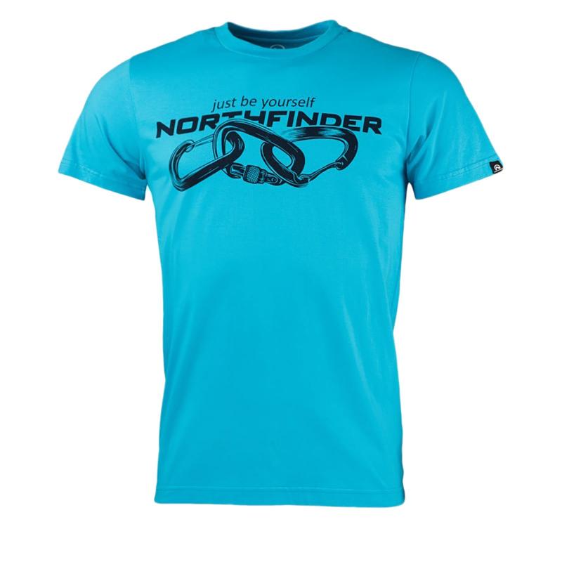 Pánske turistické tričko s krátkym rukávom NORTHFINDER-BELO-blue -