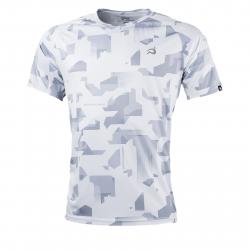 e9a5d7f72 Pánske bežecké tričko s krátkym rukávom  NORTHFINDER-RAPHAEL-greyprint_sivatlac