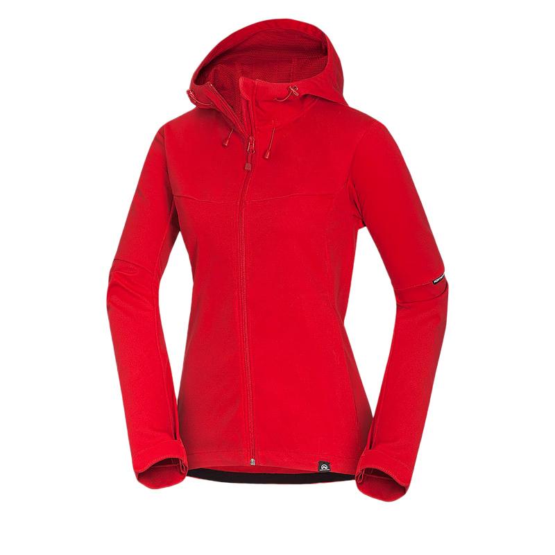 Dámska turistická softshellová bunda NORTHFINDER-ARIELLE-red -