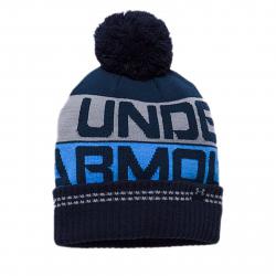 Pánska zimná čiapka UNDER ARMOUR-Men Retro Pom Beanie 2.0 Midnight Navy