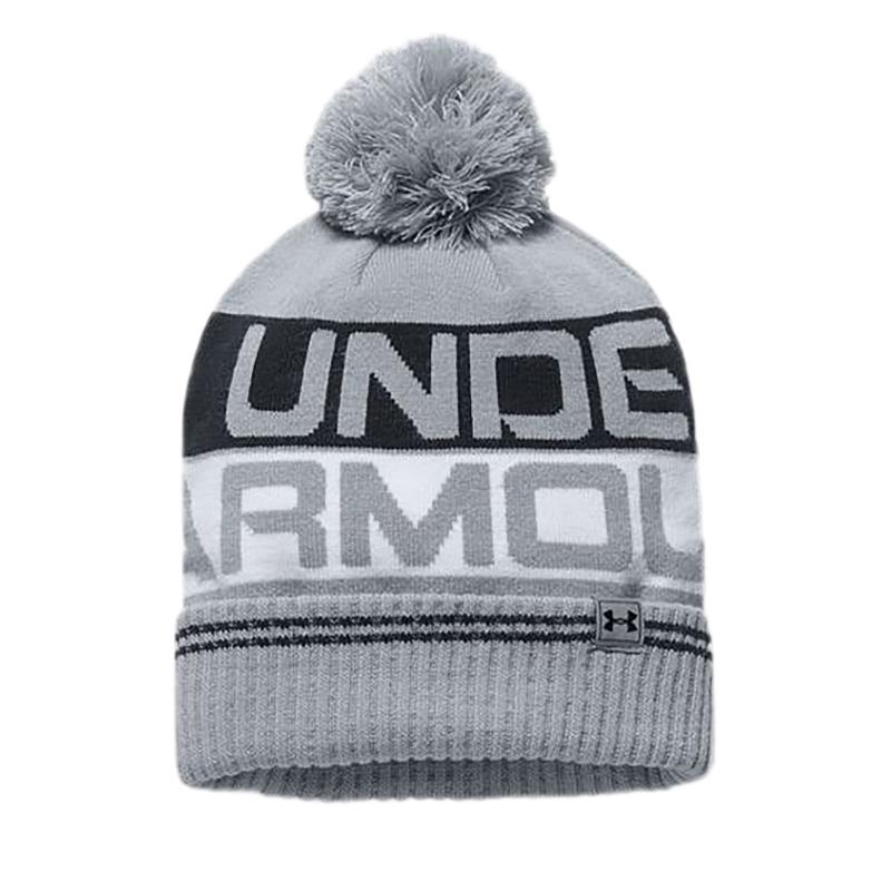 21dba5e52 Pánska zimná čiapka UNDER ARMOUR-Men Retro Pom Beanie 2.0 Overcast Gray