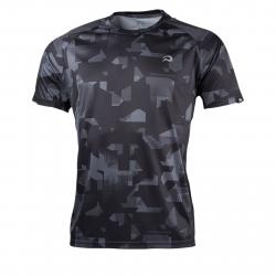 Pánske bežecké tričko s krátkym rukávom NORTHFINDER-RAPHAEL-blackprint