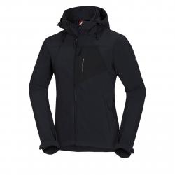 Pánska turistická softshellová bunda NORTHFINDER-EMANUEL-black