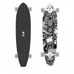 "Longboard STREET SURFING-Longboard CUT KICKTAIL 36"" Rumble Jungle - ar"