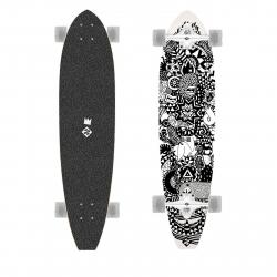 Longboard STREET SURFING-Longboard CUT KICKTAIL 36 Rumble Jungle - art