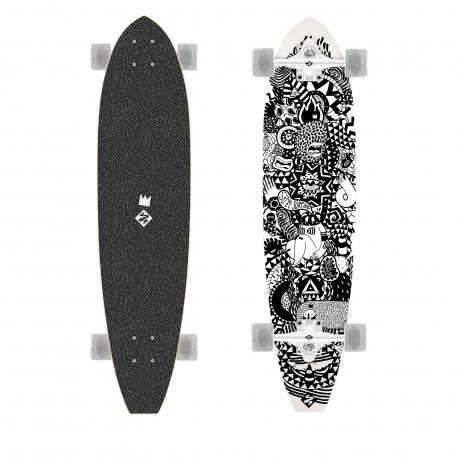 Longboard STREET SURFING-Longboard CUT KICKTAIL 36 Rumble Jungle - artist series