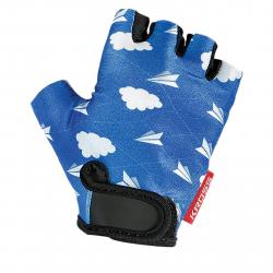 Cyklistické rukavice KROSS-Gloves BLUE/WHITE Joy S