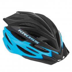 Cyklistická prilba KROSS-HELMET STORMO BLACK BLUE L