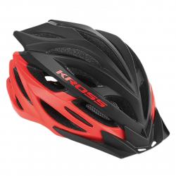 Cyklistická prilba KROSS-HELMET STORMO BLACK RED L