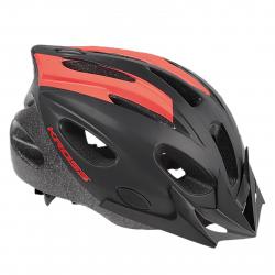 Cyklistická prilba KROSS-HELMET RIBELO BLACK RED M