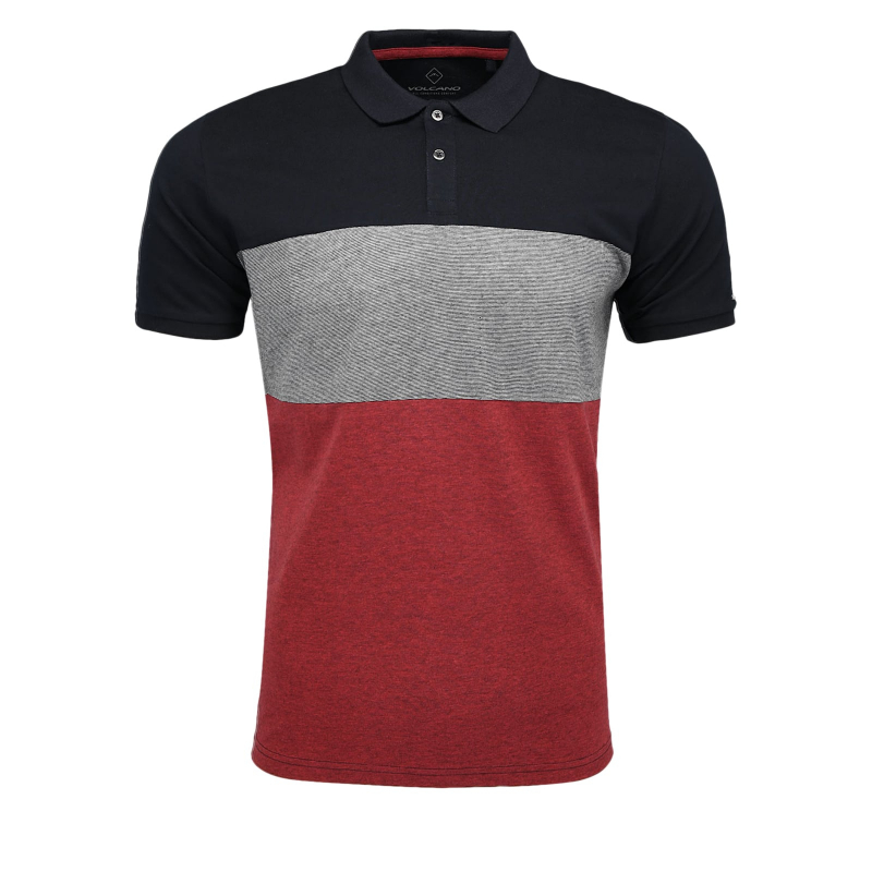 Pánske polo tričko s krátkym rukávom VOLCANO-T-DIGGER -