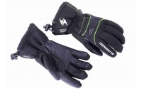 [BLIZZARD-Performance Double ski gloves, black/green,]
