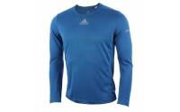 [adidas-RUN LS TEE M blue]
