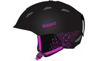 [BLIZZARD- VIVA DEMON ski helmet, black matt/magenta flowers]