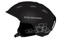 [BLIZZARD- DEMON ski helmet, black matt/silver squares]