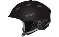 [BLIZZARD-VIVA DEMON ski helmet, black matt/silver flowers]