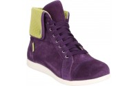 [CROCS-LoPro Suede Hi-top Sneaker mulberry/green apple]