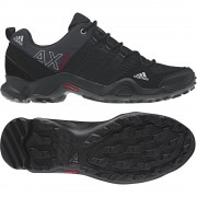 [adidas-AX2/DARK SHALE/BLACK 1/LIGHT SCARLET]