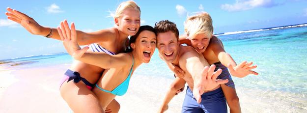 plavky a výbava na pláž
