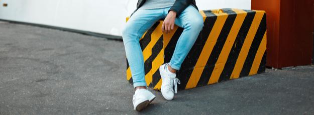 Pánska kožená obuv členková