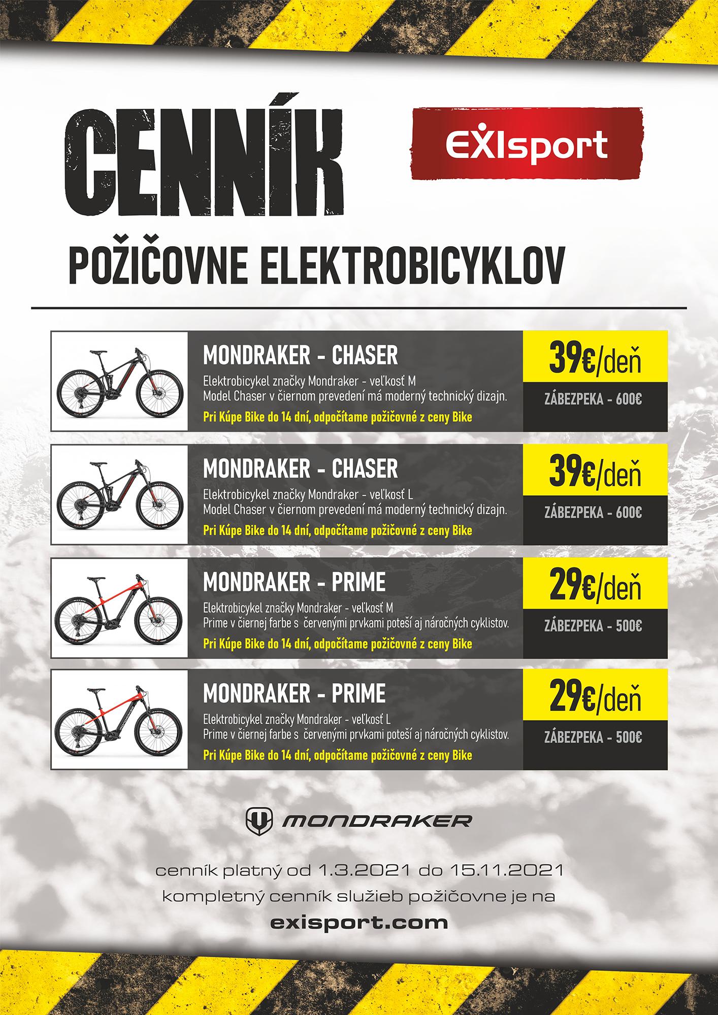 Požičovňa elektro bicyklov