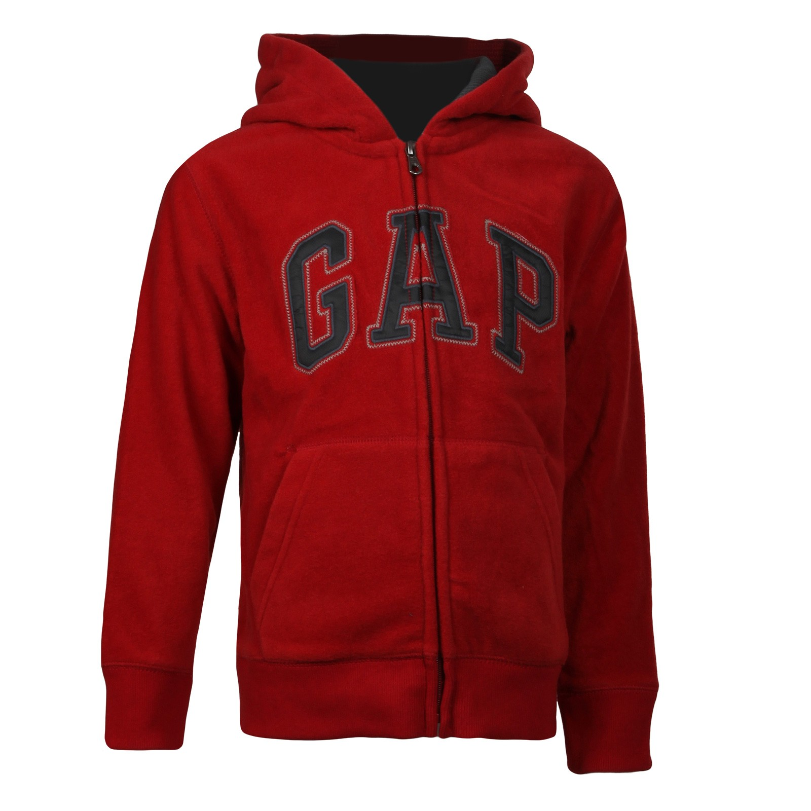 GAP Boys Hoodie Red - Chlapčenská mikina značky GAP na zips z teplého  flísového materiálu z 14cadf81146
